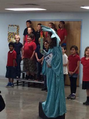 3rd grade musical CAS Center for Academic Success lady liberty