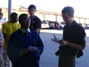 Graduate Anjo Joven speaks to SV Herald reporter about graduation.