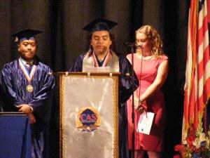 Luis Munguia delivers valedictorians address