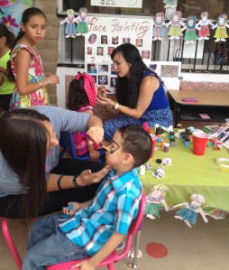 Face painting makes the day special.