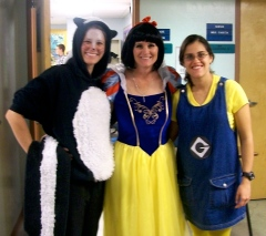Elementary and Middle School teachers get into the spirit too.