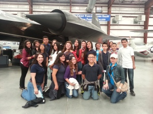 7th graders enjoy their tour of Pima Air & Space Museum