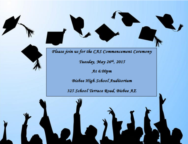 CAS, Center for Academic Success, graduation, 2015