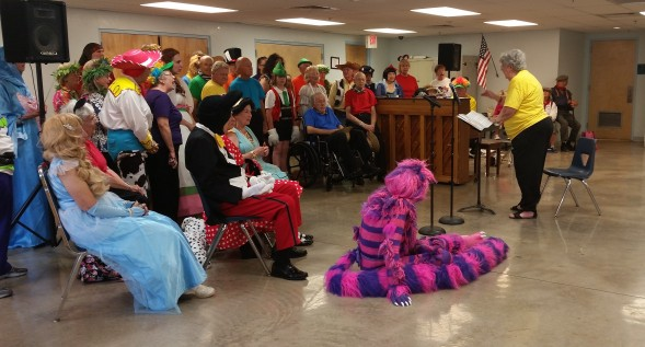 Costumed members of the SV Community Chorus perform their final number