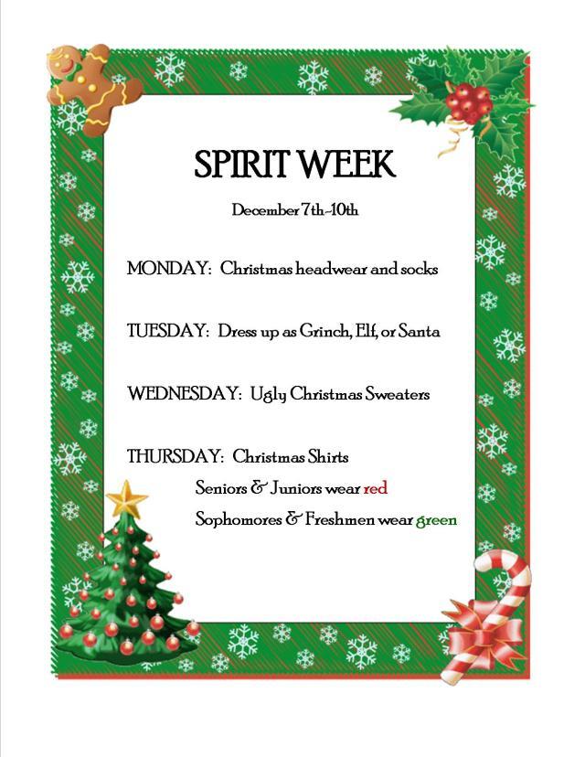 Christmas Spirit Week 2015