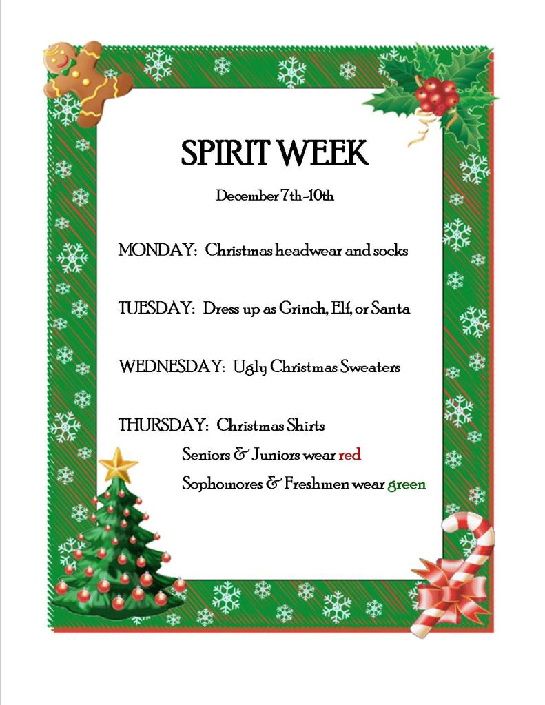 Christmas Spirit Week 2015