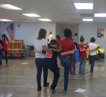 "Students perform Scottish line dance ""The Butterfly"""
