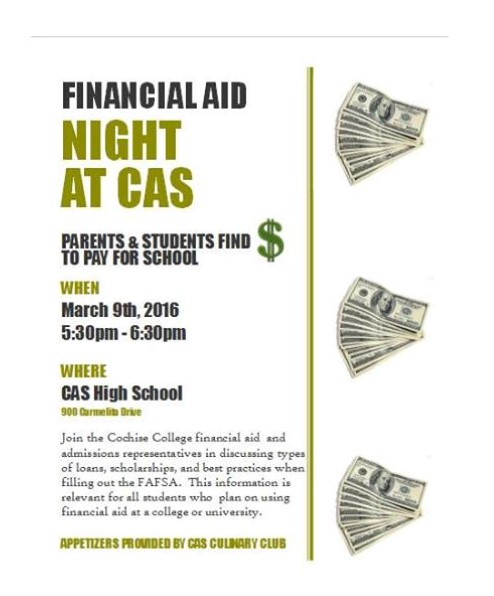 Financial Aid Night at CAS
