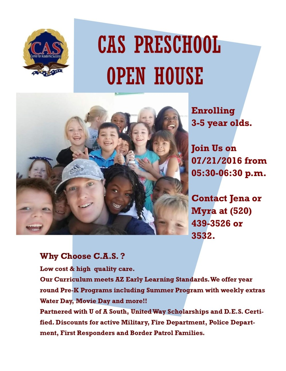 Preschool flyer  Open House